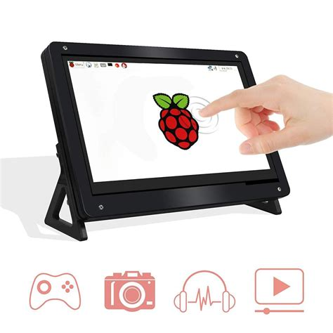 7 Inch Touchscreen LCD HDMI Input Display with Case for