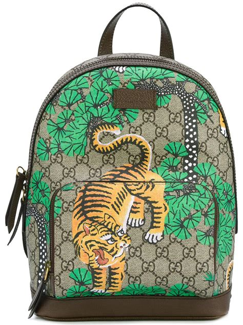 Gucci Leather Bengal Tiger Print Backpack for Men - Lyst