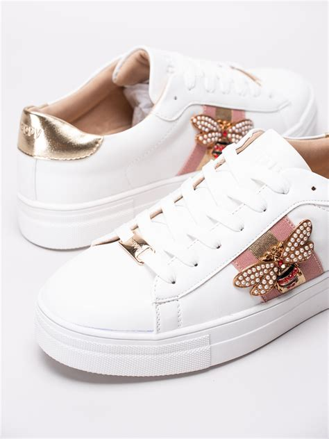 Happy Shoes Happy Song White - Vita sneakers med smyckes