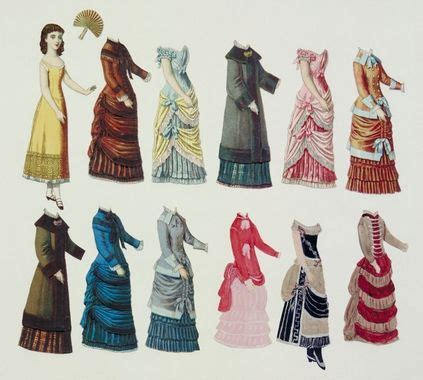 Young woman paper doll | Victorian fashion, Paper dolls