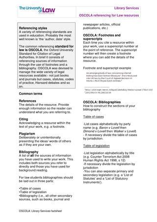 Oscola library services factsheet v2 by ULawLibraries - Issuu