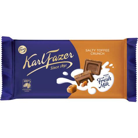 Karl Fazer Salty Toffee Crunch 145g - Coopers Candy