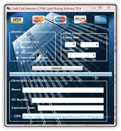 Credit Card Generator 2014 Without Survey Free Download