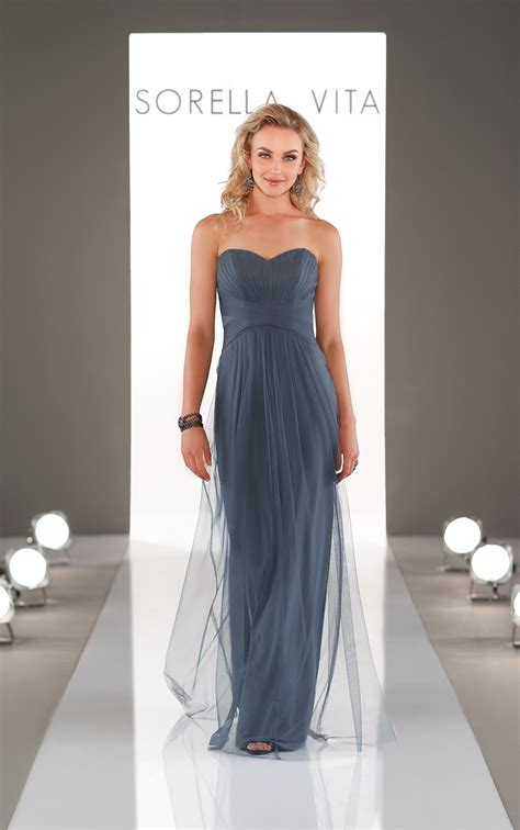 Bridesmaid Dresses | Long Romantic Ruched Bridesmaid Gown