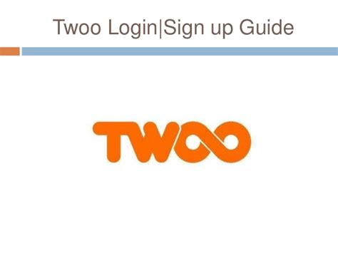 Twoo  Sign Up Process