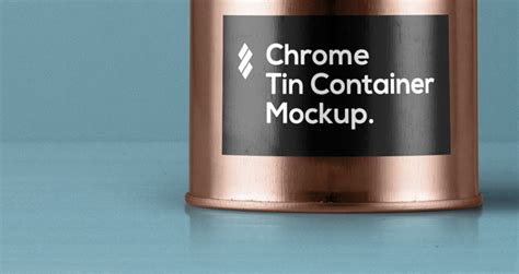 Psd Tin Container Packaging Vol4 | Psd Mock Up Templates