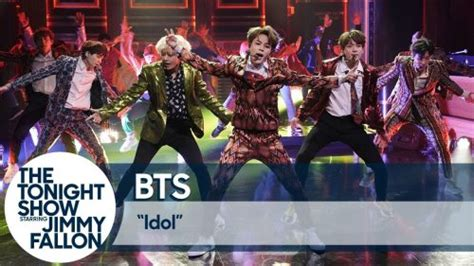 BTS performs 'Idol' on The Tonight Show starring Jimmy