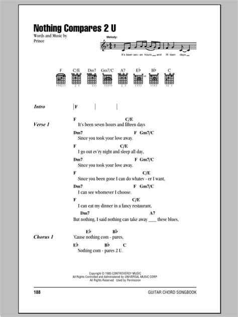Nothing Compares 2 U by Sinead O'Connor - Guitar Chords