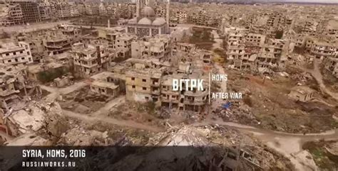 Crazy Drone Footage Of The War Torn City Of Homs In Syria