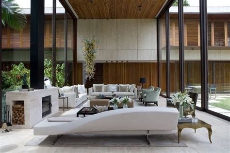 Living room with double height ceiling | Outdoor furniture