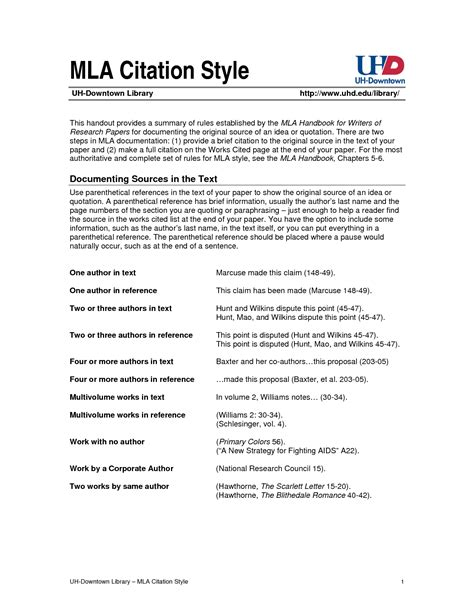 Mla Citation Format For Quotes