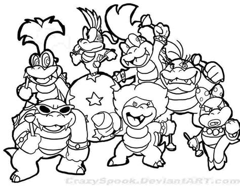 Super Mario Coloring Pages Gallery - Whitesbelfast