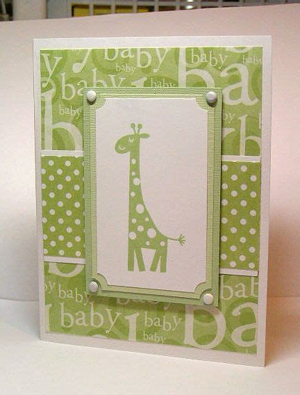 green giraffe baby card by paperprincess1973 - Cards and