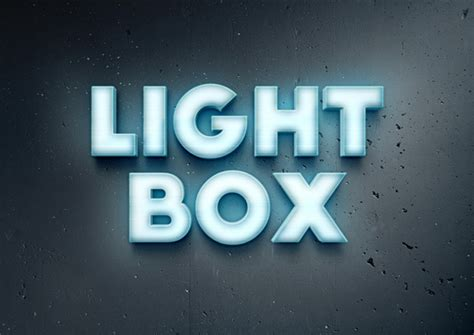 Lightbox Text Effect | GraphicBurger