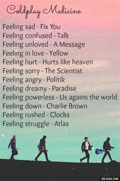 Some Coldplay medicine | Coldplay songs, Coldplay, Music