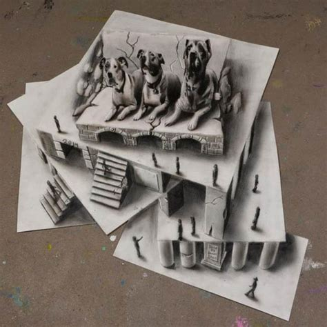Optical Illusion: New 3D Drawings by Ramon Bruin – Design Swan