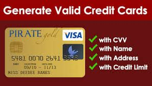 Credit Card Generator with CVV and Expiration Date 2019