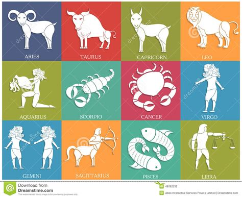 Twelve Horoscope Or Zodiac Sign Collection