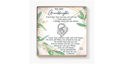 TO MY GRANDDAUGHTER - MEME - LOVECUBE W/ NECKLACE