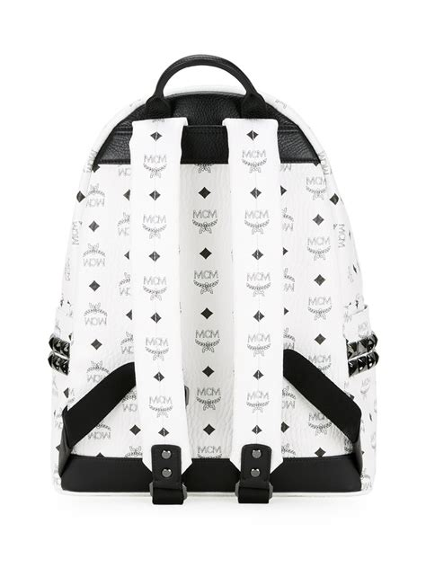 Lyst - Mcm Large 'stark' Backpack in White